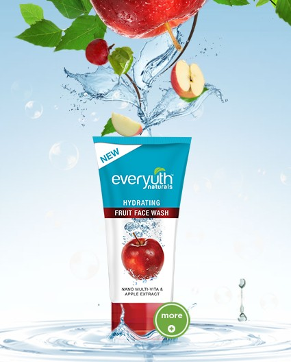 everyuth hydrating fruit face wash