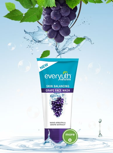 everyuth skin balancing grape face wash