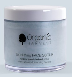 organic harvest exfoliating face scrub