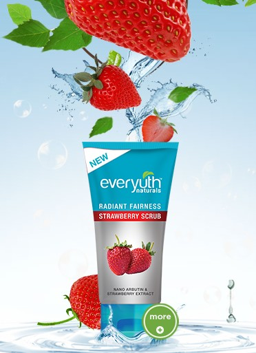 everyuth radiant fairness strawberry scrub
