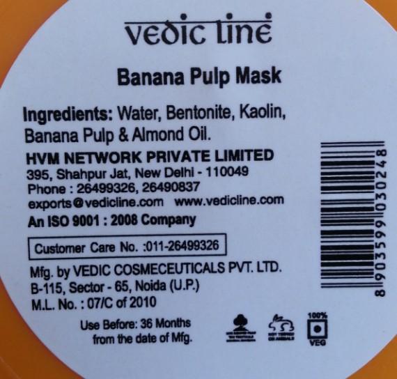 vedicline banana pulp maks 2