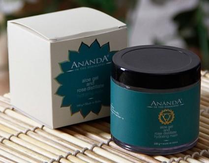 ananda aloe gel & rose distillate hydrating facial mask