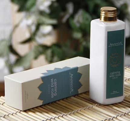 ananda calming wild rose lotion