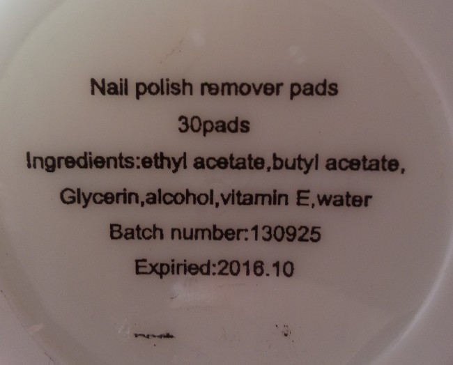 bare essentials nail polish remover pads 6