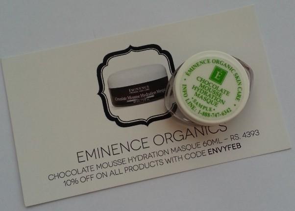 eminence organics chocolate mousse hydration masque 1