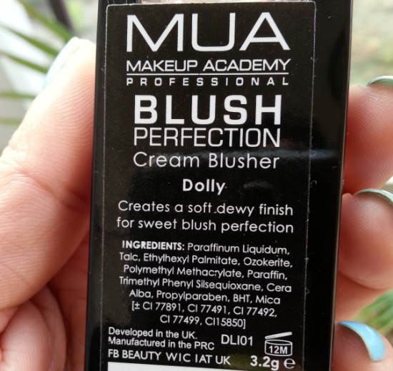 mua perfection cream blusher dolly 1
