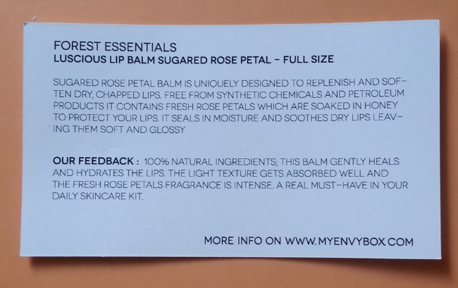 forest essentials sugared rose petal lip balm review 6