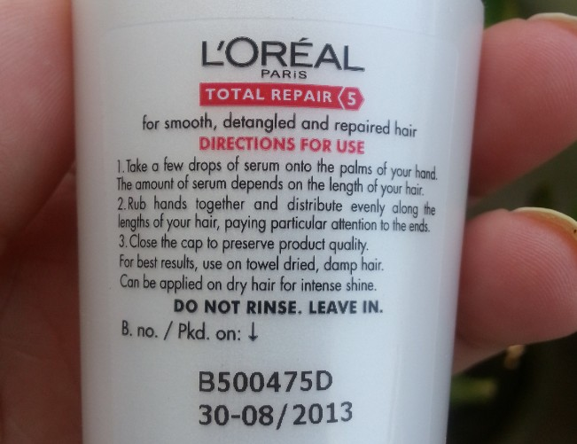 l'oreal total repair 5 oil serum review 2