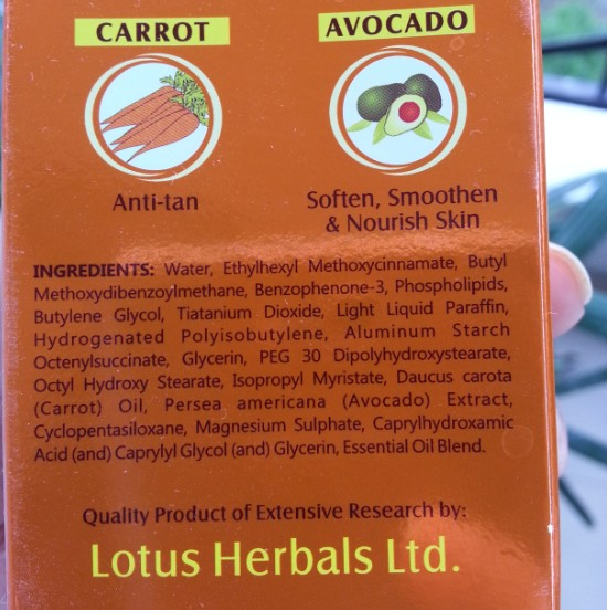 lotus herbals safe sun daily multi-function sunblock SPF70 review 5