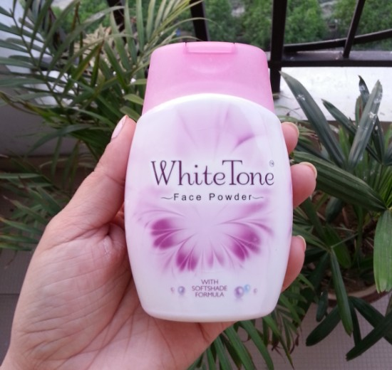 white tone face powder review 2