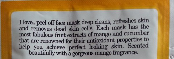 i love mango face mask review 5