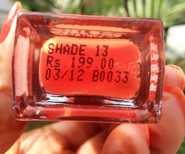 lakme fast & fabulous one stroke nail color 4