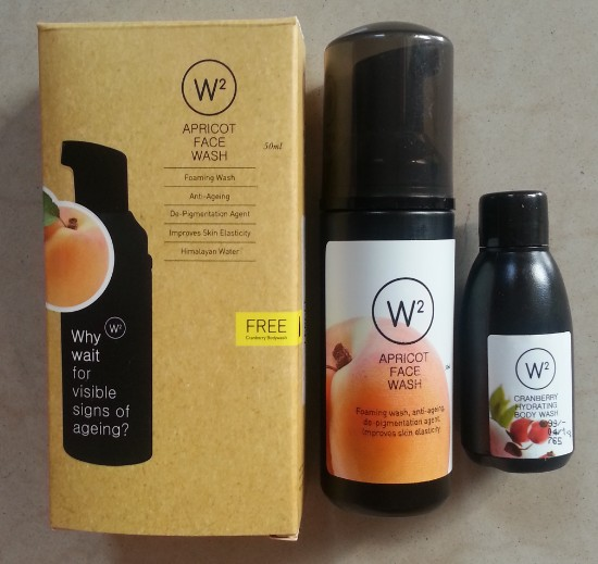 w2 (why wait) apricot face wash