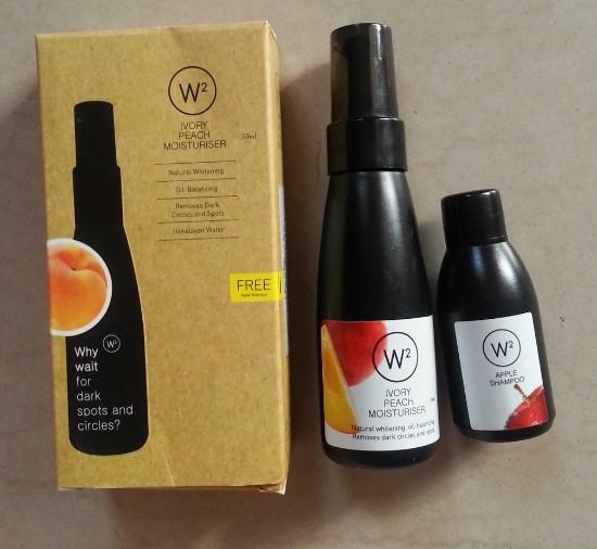 w2 (why wait) ivory peach moisturizer