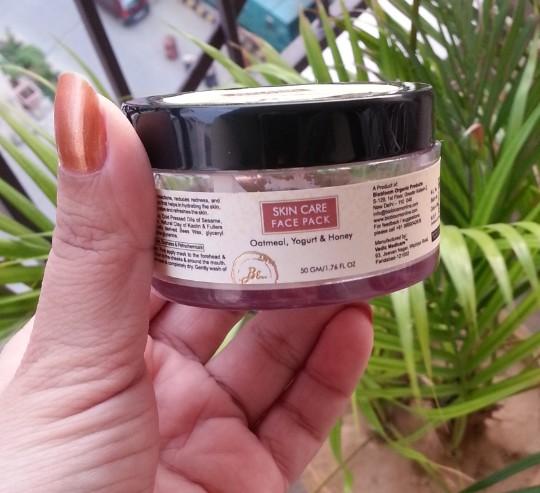 bio bloom skin care face pack oatmeal, yogurt, honey review 2