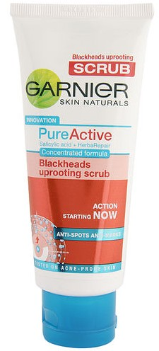 garnier pure active blackhead uprooting scrub