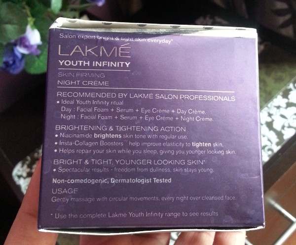 lakme youth infinity skin firming night creme review 2