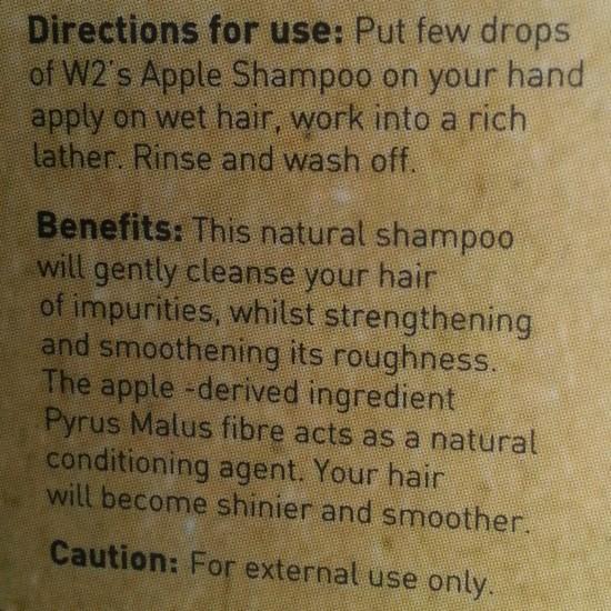 w2 (why wait) apple shampoo review 3