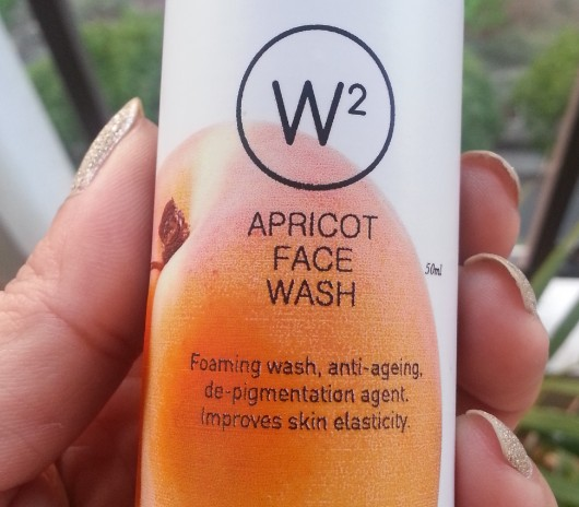 w2 (why wait) apricot face wash review 8