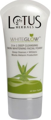 Lotus herbals whiteglow facial foam