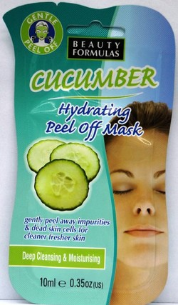 beauty formulas cucumber hydrating peel off mask