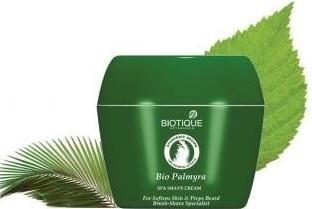 biotique bio palmyra shave cream