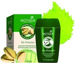 biotique bio pistachio ageless nourishing & revitalizing face pack