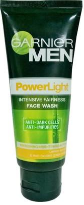 garnier men power light intensive fairness face wash
