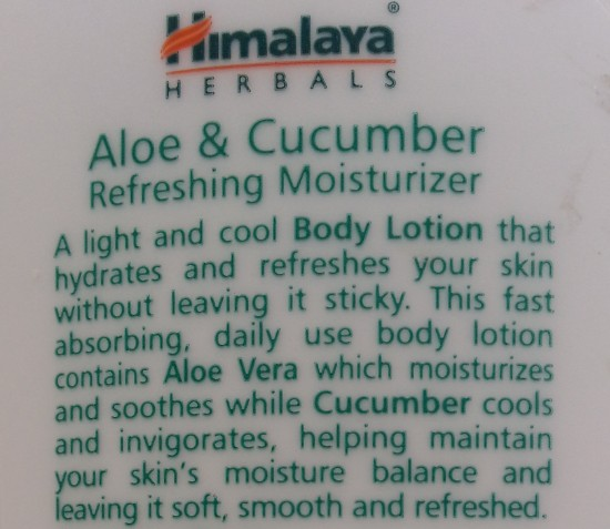 himalaya herbals aloe & cucumber refreshing moisturizer review 3