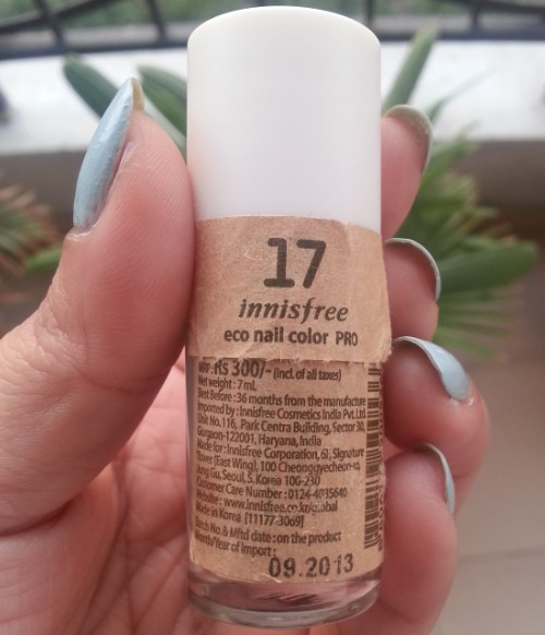 innisfree nail paint shade no.7 review 9