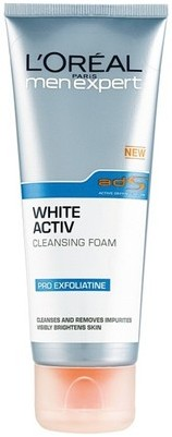 l'oreal men expert white active cleansing foam