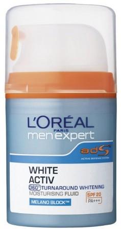 l'oreal menexpert white activ moisturizing fluid