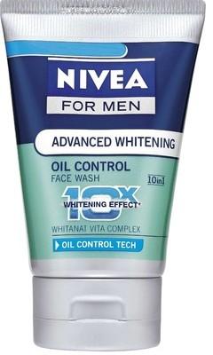 nivea advanced whitening oil control face wash
