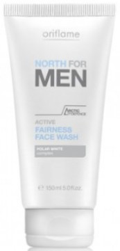 oriflame north active fairness face wash
