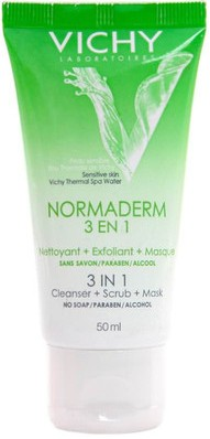 vichy normaderm 3 in 1 cleanser scrub mask
