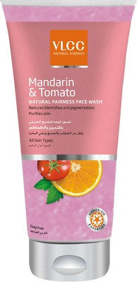 vlcc mandarin & tomato natural fairness facw wash
