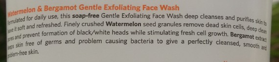 vlcc watermelon & bergamot gentle exfoliating face wash review 3