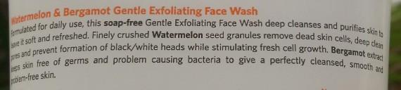 vlcc watermelon & bergamot gentle exfoliating face wash review 3