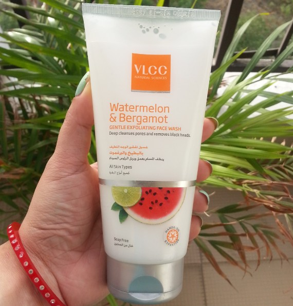 vlcc watermelon & bergamot gentle exfoliating face wash review