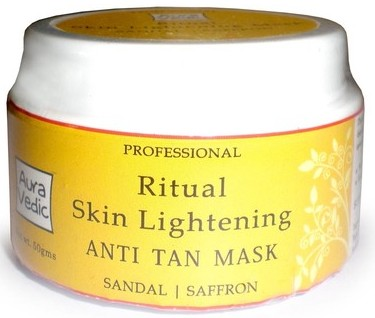 aura vedic ritual anti tan skin lightening anti tan mask