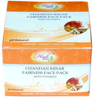 huk natural chandha kesar fairness face pack