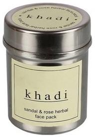 khadi sandal & rose herbal face pack