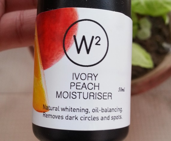 w2 ivory peach moisturizer review 7