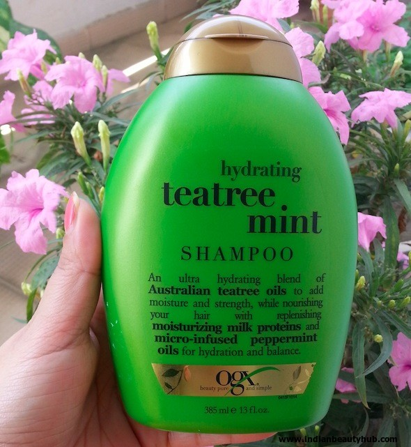 Organix Hydrating Tea Tree Mint Shampoo Review 3