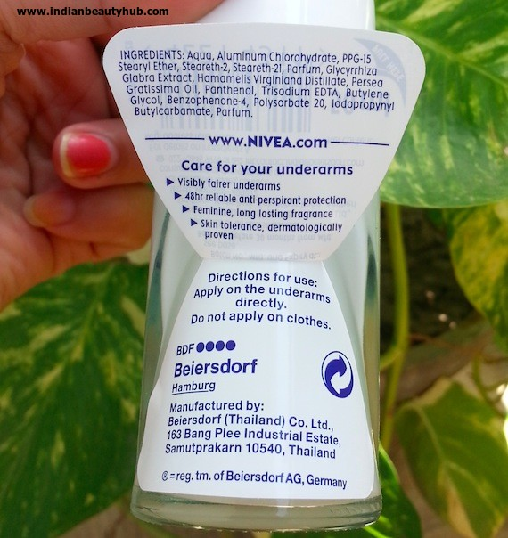 nivea whitening fairer underarms deodorant review 3