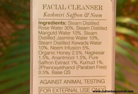 Forest Essentials Kashmiri Saffron & Neem Cleanser Review 2