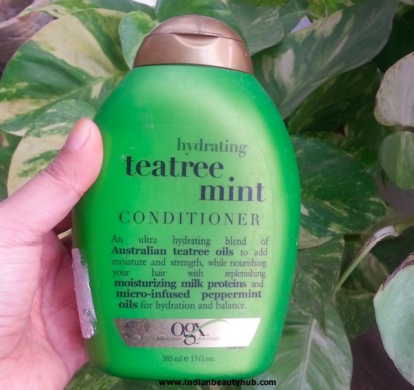 Organix Teatree Mint Conditioner Review 3
