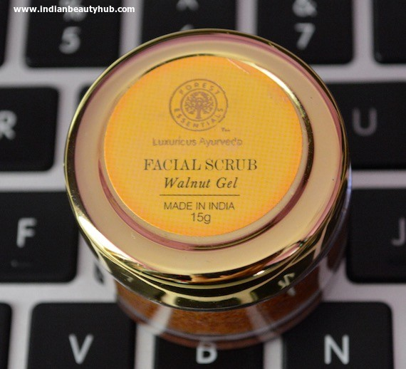 Forest Essentials Facial Scrub Review - Walnut Gel