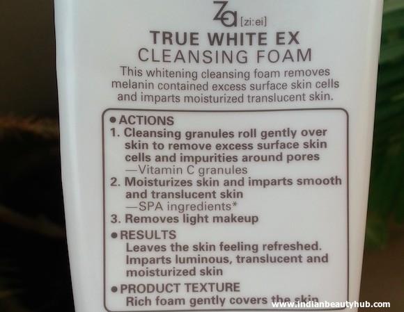 Za True White Cleansing Foam Review 7