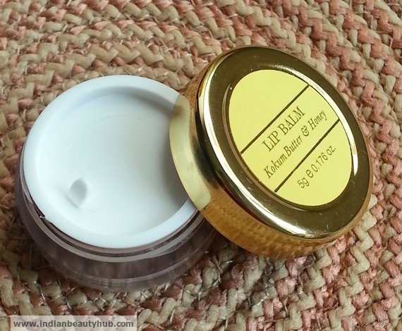 Forest Essentials Kokum Butter & Honey Lip Balm Review 5